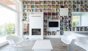 Földes Architects: minimal tarz tarz Oturma Odası