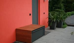 design ger tehaus stahl mit douglasienlattung von fellbacher metall und holzbau gmbh homify. Black Bedroom Furniture Sets. Home Design Ideas