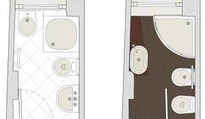 Bagno tutto in 2 5 mq di studio architettura vitale homify - Progetto bagno 2 mq ...