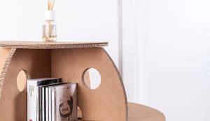 Coccinelle tavolino sgabello comò in cartone por spazionova