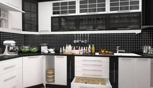 GN İÇ MİMARLIK OFİSİ – iç mimari tasarım mutfak:  tarz Mutfak