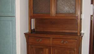 Credenza Con Alzata In Vetro : Restauro credenza con alzata in vetro di e restyling