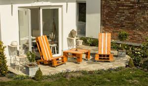 Der Einsitzer in seinen verschiedensten Variationen:  Balkon, Veranda & Terrasse von Sitzmoment Palettenmöbel