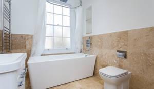 Flat Conversion in Islington: modern Bathroom by GK Architects Ltd