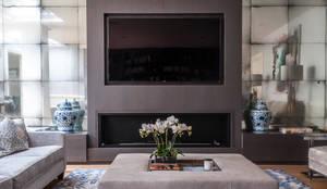 modern Living room تنفيذ Rupert Bevan Ltd
