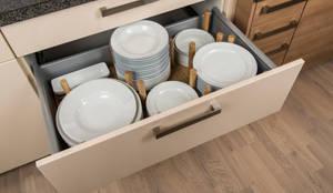 Projekty,  Kuchnia zaprojektowane przez stratmann Individuelle Besteckeinsätze