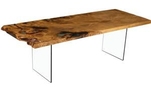 gro er naturmarkanter tisch an einem st ck von. Black Bedroom Furniture Sets. Home Design Ideas