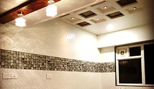 Interior works:  Kitchen by Envoy Interiors Pvt ltd