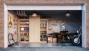 moderne Garage/Schuppen von de-cube