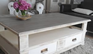 Table basse provence patin e relooking cm homedeco par cm homedec - Table monastere relookee ...