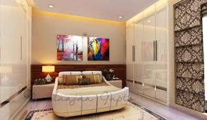 mom's bedroom: modern Bedroom by Neelanjan Gupto Design Co