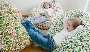 Sitzsack Impresionen: ausgefallene Wohnzimmer von millemarille GmbH