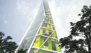 Funcionalidad del edificio :  de estilo  por Arquitectos M253