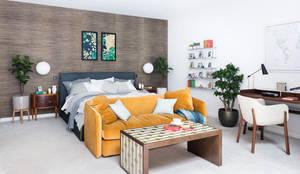 Modern New Home in Hampstead - master bedroom: modern Bedroom by Black and Milk   Interior Design   London