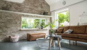 Industriële bakstenen muur in huis!:  Muren & vloeren door StonePress