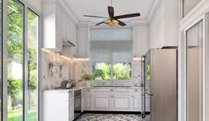 รับออกแบบ สร้างบ้าน และตกแต่งภายใน:  ห้องครัว by LOFTTID DESIGN