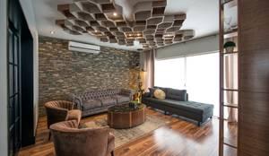 Colina 2122: Salas de estilo industrial por ESTUDIO TANGUMA