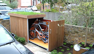 Bicycle storage:  Garages & sheds by TreeSaurus