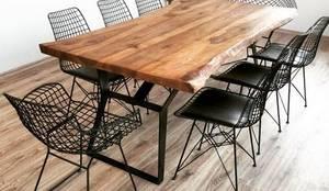 Mozilya Mobilya – Ceviz Ağaç Masa:  tarz Yemek Odası