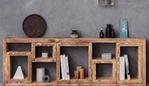 Anrichte / Lowboard im Landhaus-Stil Marie 180x60: minimalistische Wohnzimmer von FraaiBerlin GmbH