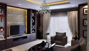 งานตกแต่งบ้าน คุณนัฐพล The Palazzo:   โดย เอสทีดี เดคคอร์ จำกัด,