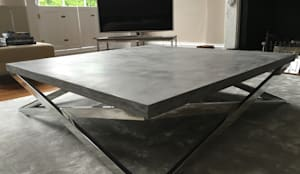 Exceptional Polished Concrete Coffee Table