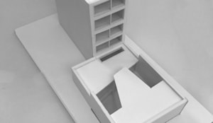 Maquette renovatie en vervangende nieuwbouw:   door Kevin Veenhuizen Architects