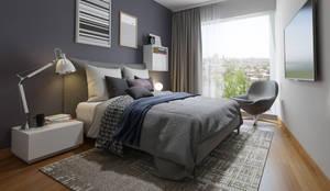 DORMITORIO - PROYECTO M: Dormitorios de estilo  por FABRE STUDIO