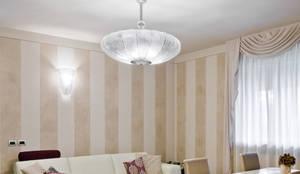 Plafoniera Muro Moderna : Plafoniera e lampada da parete moderna space age. di multiforme