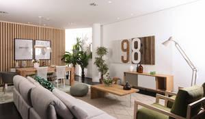 Showroom Tralhão Design Center - Soure, Coimbra: Sala de estar  por Tralhão Design Center