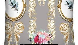 housse de coussin motif toile de jouy tissu imprim ameublement dcoration