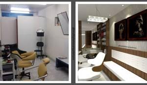 Antes e Depois 1 - Salão Voss: Gabinete  por Multiplanos Arquitetura