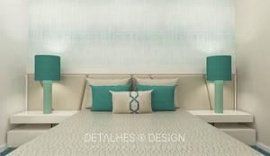 Projeto Design de Interiores - Quarto de Casal:   por Detalhes & Design