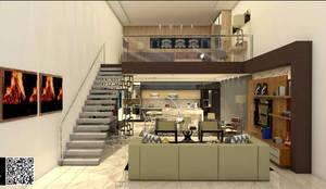 Loft / Edícula :   por JKR arquitetura e Designer - Arquitetos Associados
