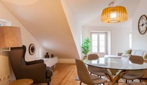 Sala Comum_Zona de Refeição: Sala de jantar  por Traço Magenta - Design de Interiores