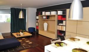zona comum: Sala de estar  por Nuno Ladeiro, Arquitetura e Design