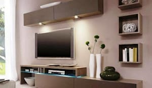 Modern TV Cabinet Wall Unit- Living room: modern Living room by Innoire Design