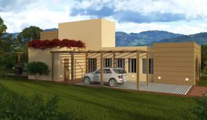 CASA CAMPESTRE EN CONDOMINIO :  de estilo  por DIARQ diseño arquitectonico SAS