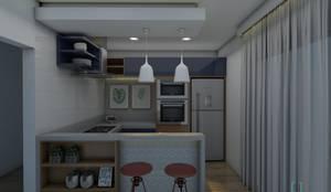 Cozinha Gourmet:   por INOVE ARQUITETURA