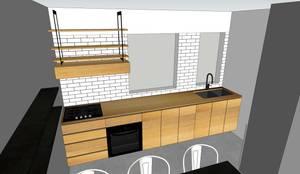 Depto FM: Cocina de estilo  por MMAD studio - arquitectura interiorismo & mobiliario -,