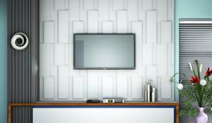 TV Unit:  Living room by Kori Interiors