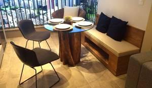 ArboREAL - Base de Guarantã para Mesa de Jantar: Sala de jantar  por ArboREAL Móveis