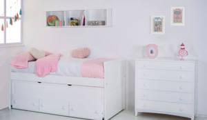 Dormitorio infantil - juvenil. Cama Compacta Recto: Habitaciones infantiles de estilo  de bainba.com