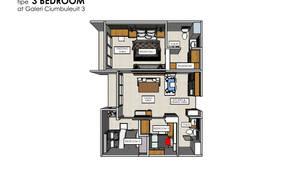 Denah Apartemen:   by POWL Studio