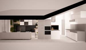 soggiorno living in mansarda: Soggiorno in stile in stile Moderno di Simone Fratta Architetto