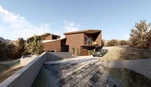 Vista acceso a la vivienda:  de estilo  por Lagom Studio
