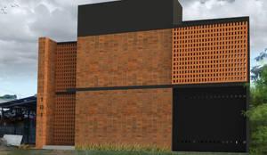 Fachada.:  de estilo  por Creer y Crear. Arquitectura/Diseño/Construcción