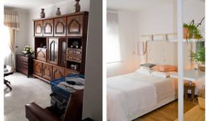 Quarto com inspiração natural:   por Tangerinas e Pêssegos - Design de Interiores & Decoração no Porto
