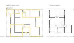 Planta de situación anterior y situación propuesta. :  de estilo  por D01 arquitectura