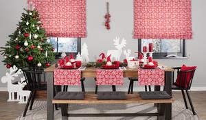 Dekoria weihnachtliches Esszimmer im Landhausstil:  Esszimmer von Dekoria GmbH